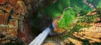 Wonderful-view-of-the-979-foot-waterfall-Video-2
