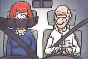 حس مردان هنگامی که همسرشان رانندگی می کند