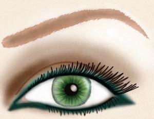 آموزش کشیدن خط چشم برای دختر خانم ها