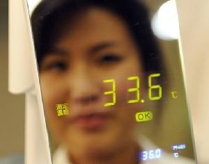 آینهای که دمای بدن انسان را می سنجد