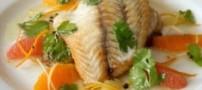 طرز تهیه ی ماهی کنجدی با سس مرکبات