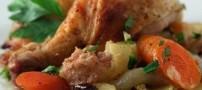 طرز تهیه خوراک مرغ مکزیکی با مایکروفر