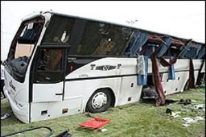 چند تصادف مرگبار اتوبوسها در جاده ها