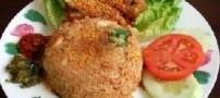 آشپزی به سبک مالزی (پلو و مرغ سرخ شده)