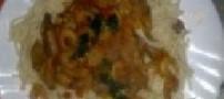 آشپزی به سبک ایرانی (ماکارونی با قارچ و میگو)
