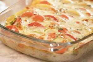 طرز تهیه ی گراتن پنیر و سبزیجات