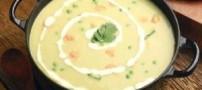 آشپزی، سوپ جو با سیر کباب شده