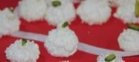 طرز تهیه شیرینی پفکی نارگیلی