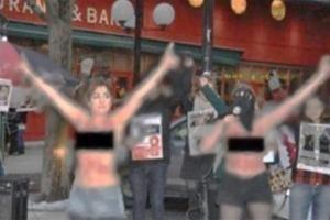 جنجال عریان شدن چند زن ایرانی در سوئد!! عکس