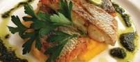 آشپزی، فیله ماهی با اسفناج