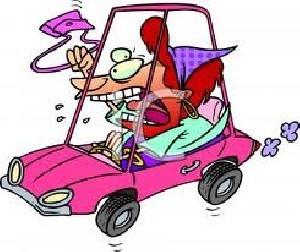 طنز، پرسش هایی در مورد رانندگی خانم ها