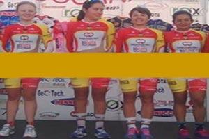 لباس شرم آور و نیمه عریان تیم دوچرخه سواری زنان + عکس
