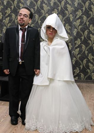 مراسم ازدواج کوتاه قدترین دختر و پسر ایران در تهران (تصاویر)