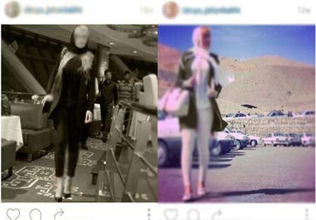 گردش جلف دختران مدل اینستاگرام در تهران + عکس
