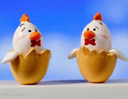 تزئین تخم مرغ به شکل خروس برای هفت سین 96