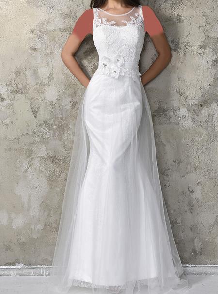 مدل لباس مجلسی تم سفید