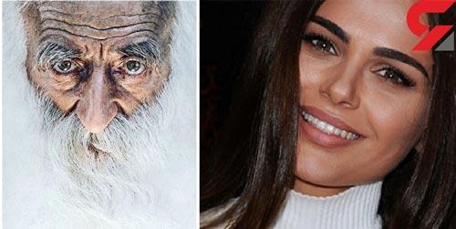 زیباترین مدل زن با پیر مردی که طرفدارش بود چه کرد؟ عکس