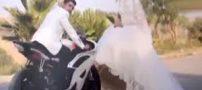 مرگ دردناک عروس و داماد در ماشین گل زده + عکس