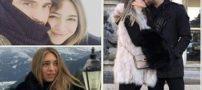 بوسه های عاشقانه عکس های جنجالی عروسی کریم انصاری با صوفیا