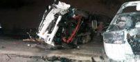 تصادف زنجیره ای دلخراش در محور ساوه | تعداد کشته ها و زخمی ها