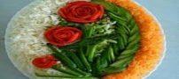 تزئین غذا با سبزیجات  مدل تزئین غذا