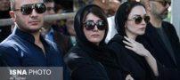 تصاویر بازیگران سیاه پوش در مراسم خاکسپاری عزت اله انتظامی