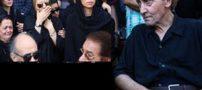 چهره غمگین هنرمندان و بازیگران در مراسم خاکسپاری حسین عرفانی