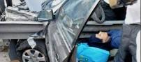 تصادف وحشتناک راننده زن مشهدی/ تصاویر